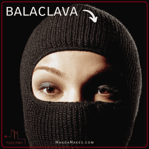 qoman wearing a balaclave