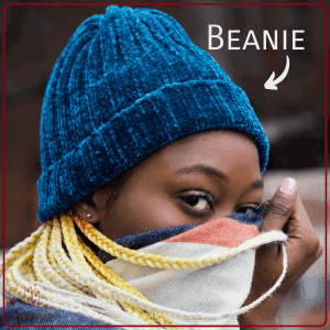 Woman wearing beanie
