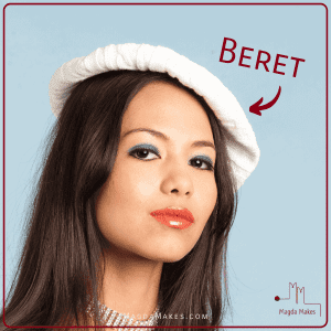 woman wearing beret