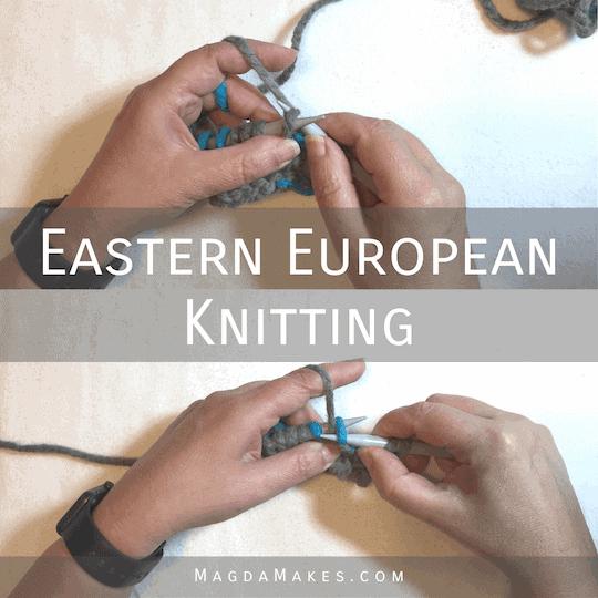 hands making Eastern European stitches