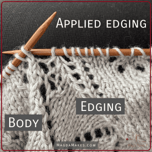 lace knitting on the needles