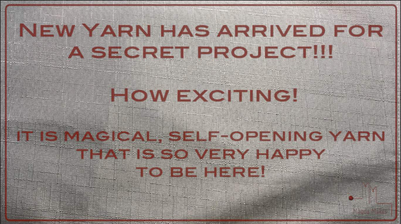 New yarn: How does it feel? Watch and find out.