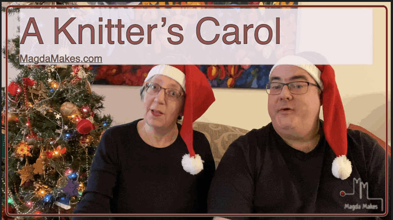 Christmas Carol for Knitters:  Finished Size is Based on Your Gauge