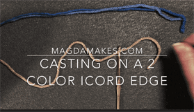 2 Color i-Cord Cast On