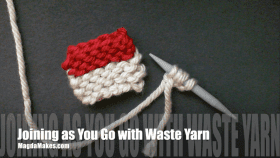 Joining As You Go Using a Waste Yarn