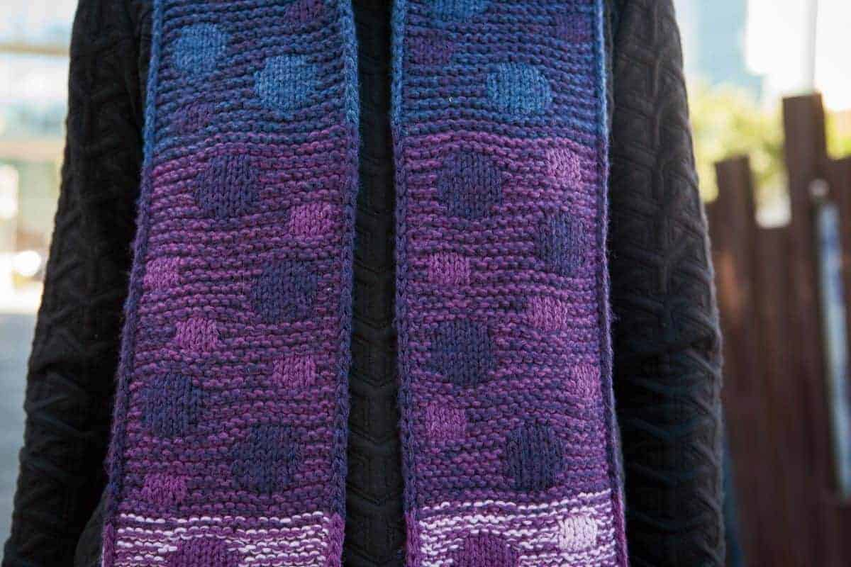 Dancing Circles Reversible Scarf