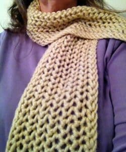 Simple lace scarf around my neck.