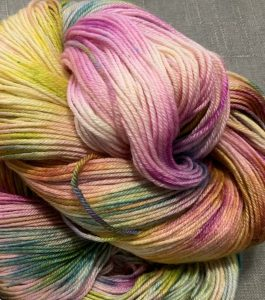 colourful yarn in swirl